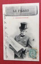 CPA. 1903. Journaux et Lecteurs. 1. LE FIGARO. Bergeret. Homme Âgé. Chapeau.