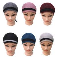 Muslim Women Lady Under Scarf Hijab Bone Bonnet Cap Inner Ninja Headband Turban