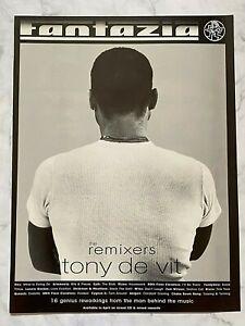 Rare 1996 Magazine Advert Art Picture Fantazia Tony De Vit Club Music CD Ad
