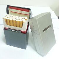 Herren Silber-Aluminium-Zigarre-Zigaretten-Kasten-Speicher-Tabak Box Case NEU