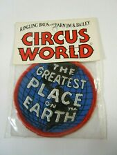 """Vintage Embroidered Circus World """"The Greatest Place On Earth"""" Sew-On 3"""" Patch"""