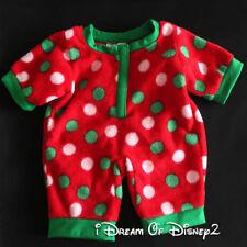 Build-A-Bear CHRISTMAS SLEEPER PAJAMAS Red & Green Polka Dots Teddy Clothes NWOT