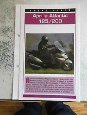 APRILIA ATLANTIC 125/200 collector file fact sheet.