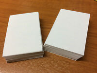 100 White Blank Business Cards 250gsm, Stamp, Print. White Smooth Card