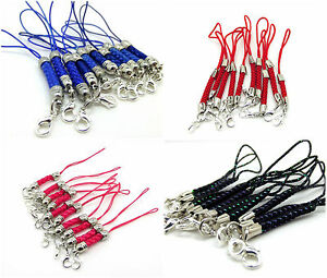 Lanyard Strap Braided Lobster Clasp Silver Plated Cords Mobile Phone Mp3 Usb