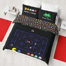 Retro Games Pacman Space Invaders Double Bed Duvet Quilt Doona Cover Set