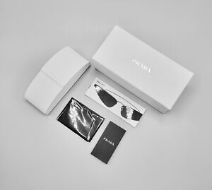 PRADA Authentic Optic Sunglasses Hard White Leather Case, Cloth New NWB