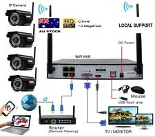 4 X 720P Wireless 36IR 8CH 1080p plug & play CCTV Security System + Hard Drive