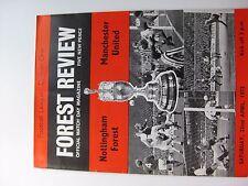 NOTTINGHAM FOREST v MANCHESTER UNITED  22/04/1972  Season 1971-72