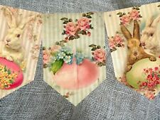 Traditional Vintage Style Easter Bunting  - 2.5m
