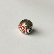 NEW Authentic Pandora Silver Belle's Enchanted Rose Disney Charm - 791575EN09