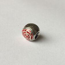 NEW Authentic Pandora in Argento BELLE'S incantato ROSE Ciondolo Disney - 791575EN09