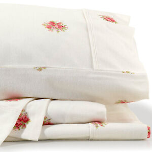 Bianca French Bouquet Flannelette Sheet Sets, 170gsm, Brushed Cotton Twill Weave