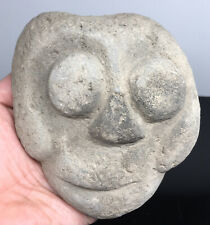 MASSIVE Pre-Columbian Carved Volcanic Stone Alien Head Accouterment Ancient