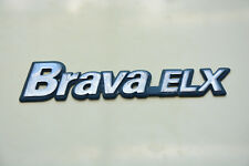 USED FIAT BRAVA_ELX ORIGINAL EMBLEM NAMEPLATE REAR LOGO PLASTIC BADGE
