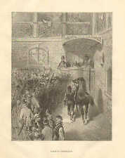 Horses, A Sale At Tattersall's, Horse Auction, Vintage, 1873 Antique Print