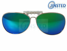 Revo Green Blue Mirrored Aviator Polarised Polarized Clip On Sunglasses ACP017