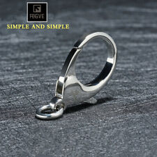 FEGVE Keychain Stainless Steel Lobster Claw Clasps Polishing