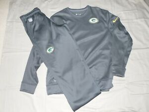 NIKE NFL PACKERS ON FIELD THERMA FIT Sweatpants MEDIUM & Sweatshirt XL BRAND NEW
