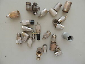 Amphenol Connector PL-259 Coaxial Style Related Parts 20+ Pieces, Mixed