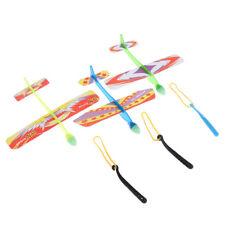 Plastic foam elastic rubber powered flying plane kit aircraft toy—AYMAEK