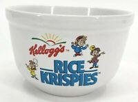 """Kellogg's Rice Krispies Breakfast Cereal Bowl  3.5"""" x 5"""" Vintage Houston Harvest"""