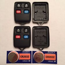 2 New 4 Button Keyless Remote Shell Cases + CR2032 Batteries Ford CWTWB1U345
