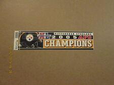 NFL Steelers Vintage 2005 AFC Champions Bumper Sticker