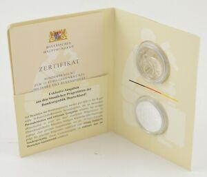 2011 Germany 2 Coin 10 Euro Set 500 Years Till Eulenspiegel Booklet & COA *428