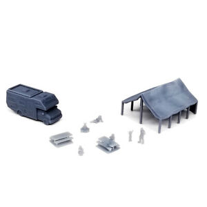 Outland Models Railway Layout RV Park Camsite Set with People 1:220 Z Scale