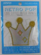 Retro Pop Cool Little Patch Things Gold Holographic Crown New