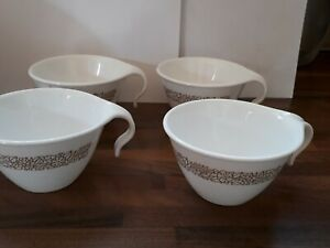 4 Corelle by Corning Cups with Hook Handles