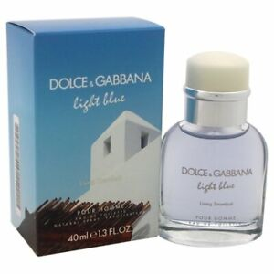 D&G Light Blue Living Stromboli 1.3 oz Eau de Toilette Spray Men - New In Box