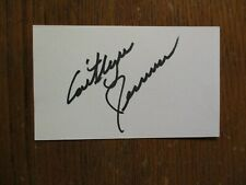 """CAITLYN(""""Bruce"""")JENNER(""""Keeping Up With The Kardashians"""")Signed 3 X 5 Index Card"""