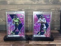 ⚡️ 2020 Mosaic Russell Wilson And Dk Metcalf Pink Camo Prizm Seahawks ⚡️