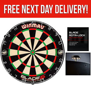Winmau Blade 5 Dartboard Professional Level Bristle Dart Board With Rota-Lock