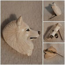 "Vintage Collectible Samoyed Pin, Sammy 1"" x 1-1/4"" Tall."