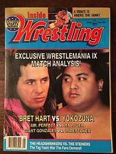 Inside Wrestling May 1993 Bret Hart, Andre The Giant, Yokozuna