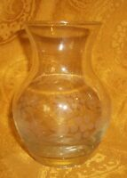 Gorgeous Vintage Etched Crystal Bud Vase By Crystal Clear Industries