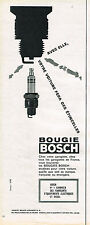 PUBLICITE ADVERTISING  1963    BOSCH   bougies