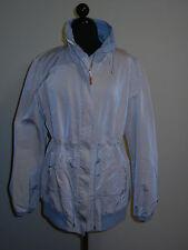 BRUNELLO CUCINELLI Jacket Beige Techno Silk Fabric w Grey Cotton Sz 44 (US 8 )