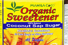 Organic COCONUT SAP SUGAR Manila Coco NOT Cane Sugar/Stevia NOT Agave/HFCS 500gm