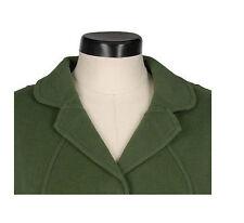 QVC Dialogue Wool Blend Double Faced Jacket Button Coat Sz S 6-8 PLUM $82 NEW