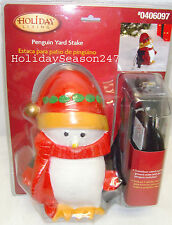 Holiday Living Outdoor Garden Ground 3 Outlet Decorative Penguin Yard Stake