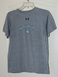 North Carolina Tar Heels Under Armour Shirt Size Youth Large  Nice Buy!