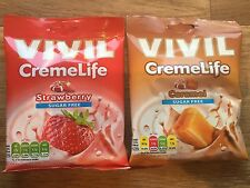 VIVIL SUGAR FREE STARWBERRY AND CARAMEL SWEETS HARD CANDIES DIABETICS DIET