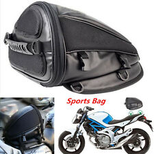 Motorcycle Sport Tail Back Bag Seat Carry Bag Luggage Saddlebag Waterproof Black