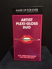 Make Up For Ever Artist Plexi-Gloss Duo 2 Mini Glosses #209&403 NIB