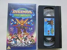DIGIMON: THE MOVIE VHS VIDEO, DIGITAL MONSTERS, RATED PG, V.G.C. CONDITION.