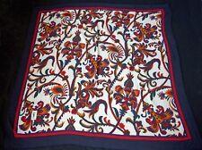 YVES SAINT LAURENT Wool Challis Floral Scarf